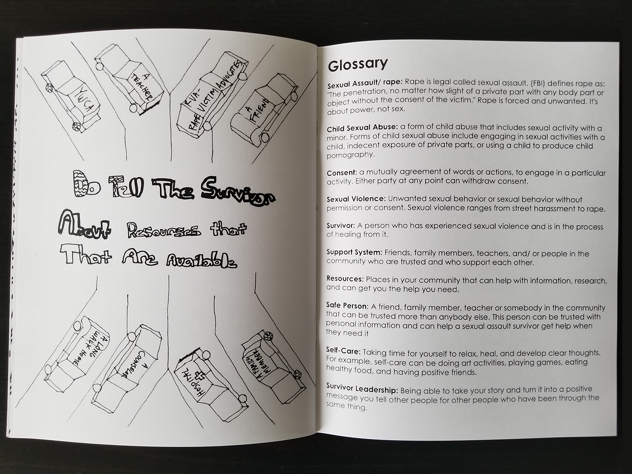 The School Worked With A Long Walk Home And Rape Victims Advocates To Create Coloring Book
